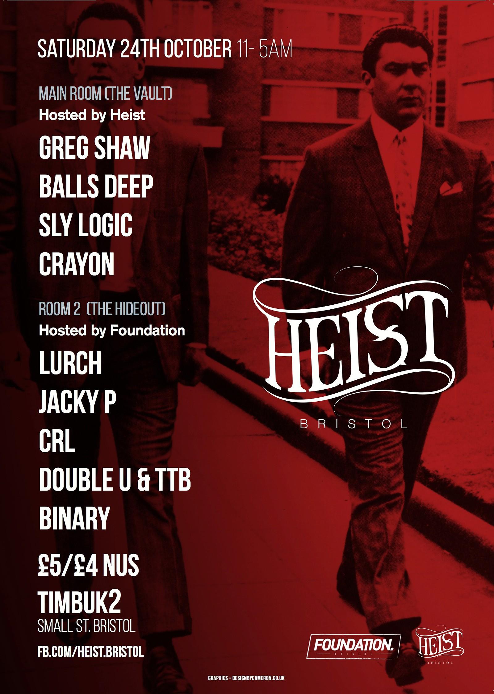 Heist, Timbuk 2 – Headfirst Bristol