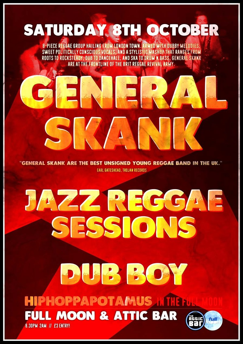 General Skank // Jazz Reggae Sessions //, The Attic Bar – Headfirst