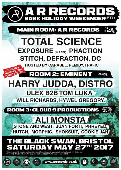 A R Records May Bank Holiday weekend pt1 tickets