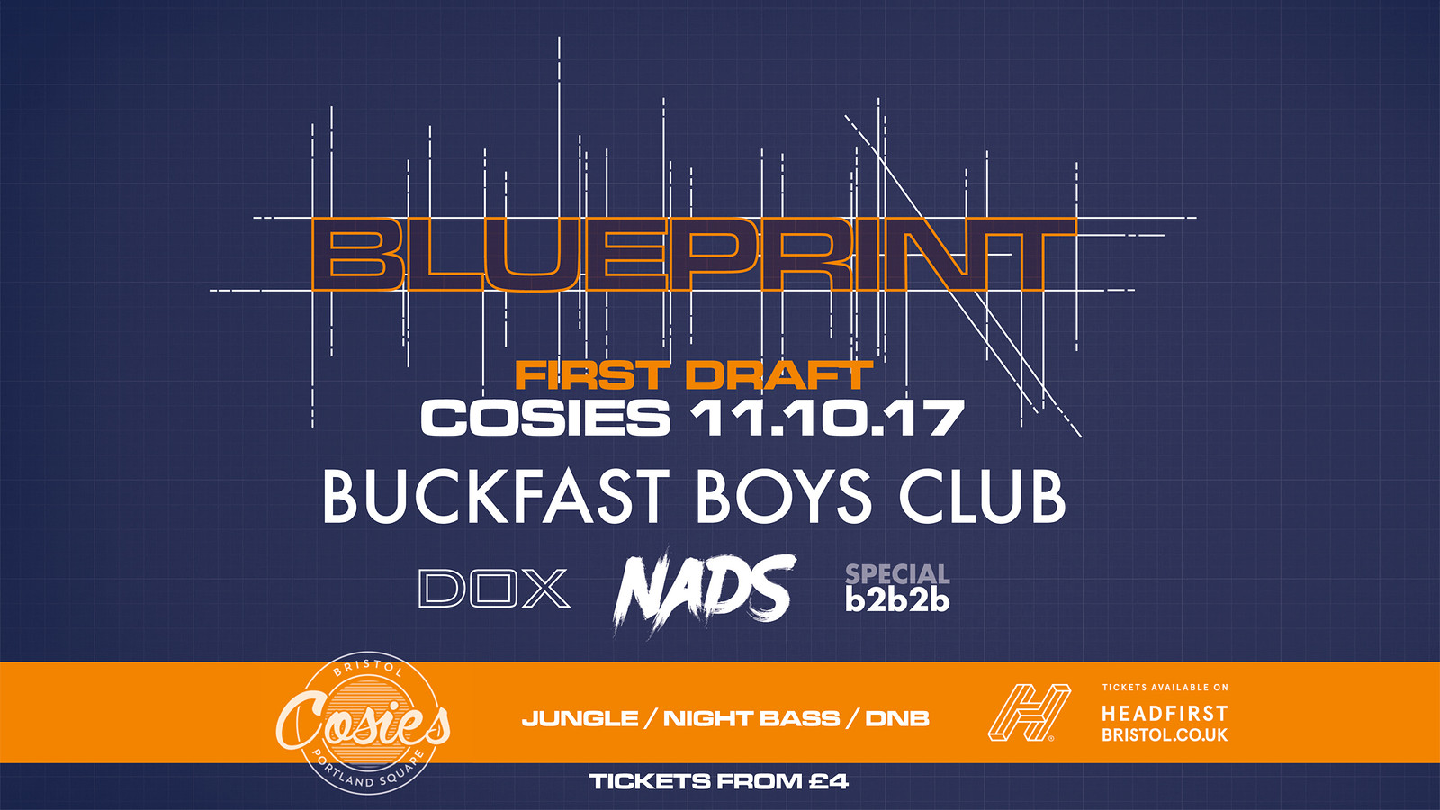 Blueprint first draft tickets cosies buy from headfirst bristol malvernweather Image collections