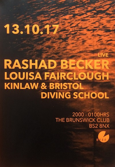 Rashad Becker | Louisa Fairclough | Kinlaw & BDS tickets