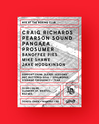 NYE w/ Craig Richards, Pearson Sound, Prosumer... in Bristol