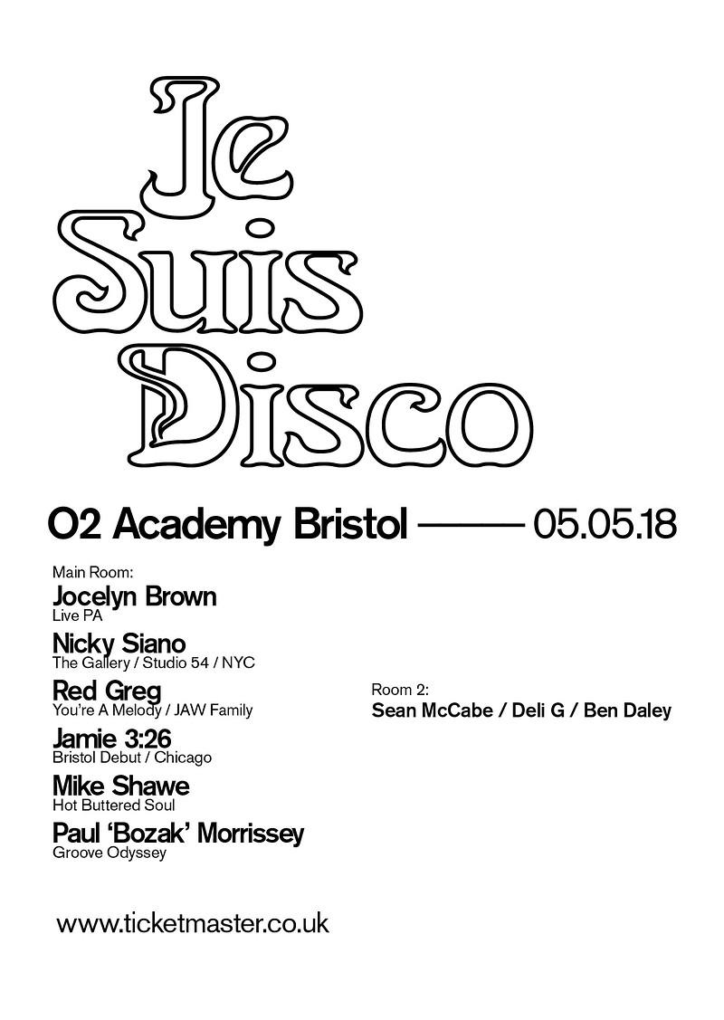 Je Suis Disco in Bristol 2018