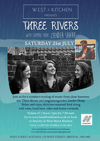 Three Rivers with support from Zander Sharp in Bristol