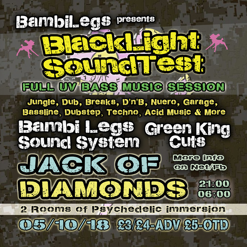 Bambi Legs Presents - BLACKLIGHT SOUNDTEST tickets, Jack Of