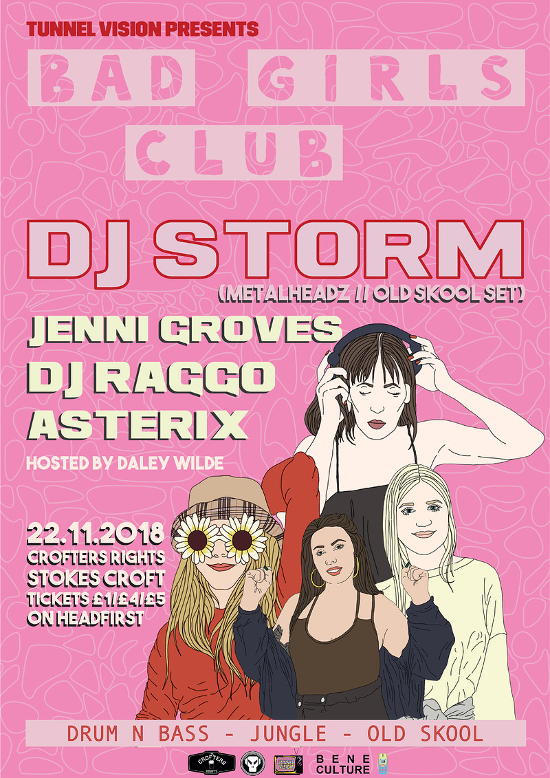 Tunnel Vision: Bad Girls Club w/ DJ Storm  at Crofters Rights