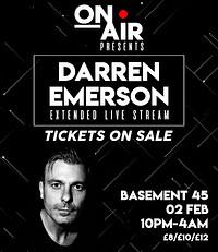 On Air Presents: Darren Emerson in Bristol