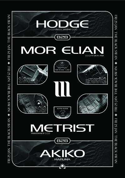 Method Lab Present: Mor Elian b2b Hodge + more tickets
