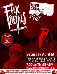 Folk Devils / Inca Babies in Bristol