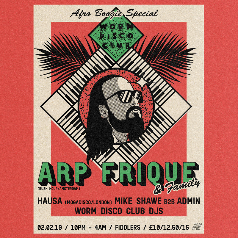 """Worm Disco Club w/Arp Frique """"Afro-Boogie Special"""" at Fiddlers"""