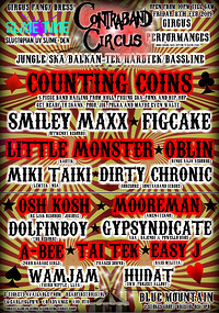 Contraband Circus! - Counting Coins/Figcake +More! in Bristol