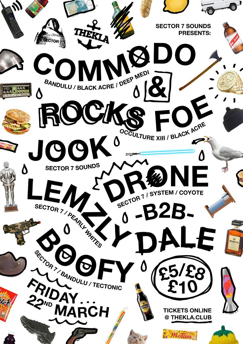 Sector 7 Sounds // Commodo + Rocks FOE at Thekla