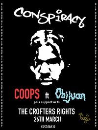 Conspiracy: COOPS ft OBIJUAN, ELZ LION, LAZY EYEZ in Bristol