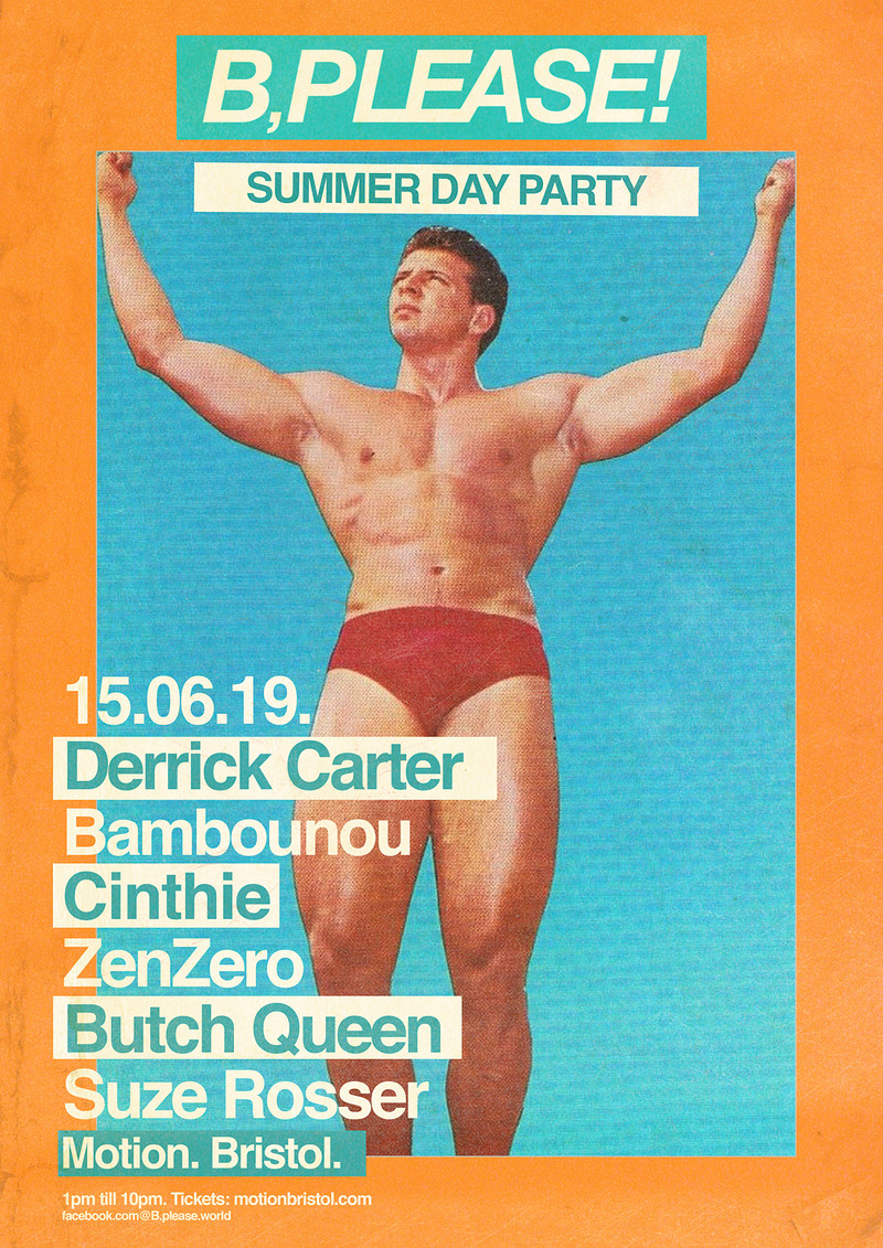 B, Please! Summer Day Party with Derrick Carter in Bristol 2019