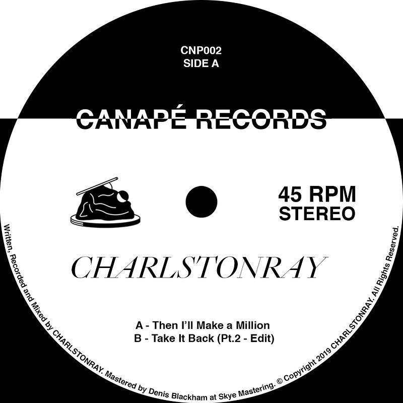 Canapé Presents CHARLSTONRAY (Vinyl Release Party) in Bristol 2019