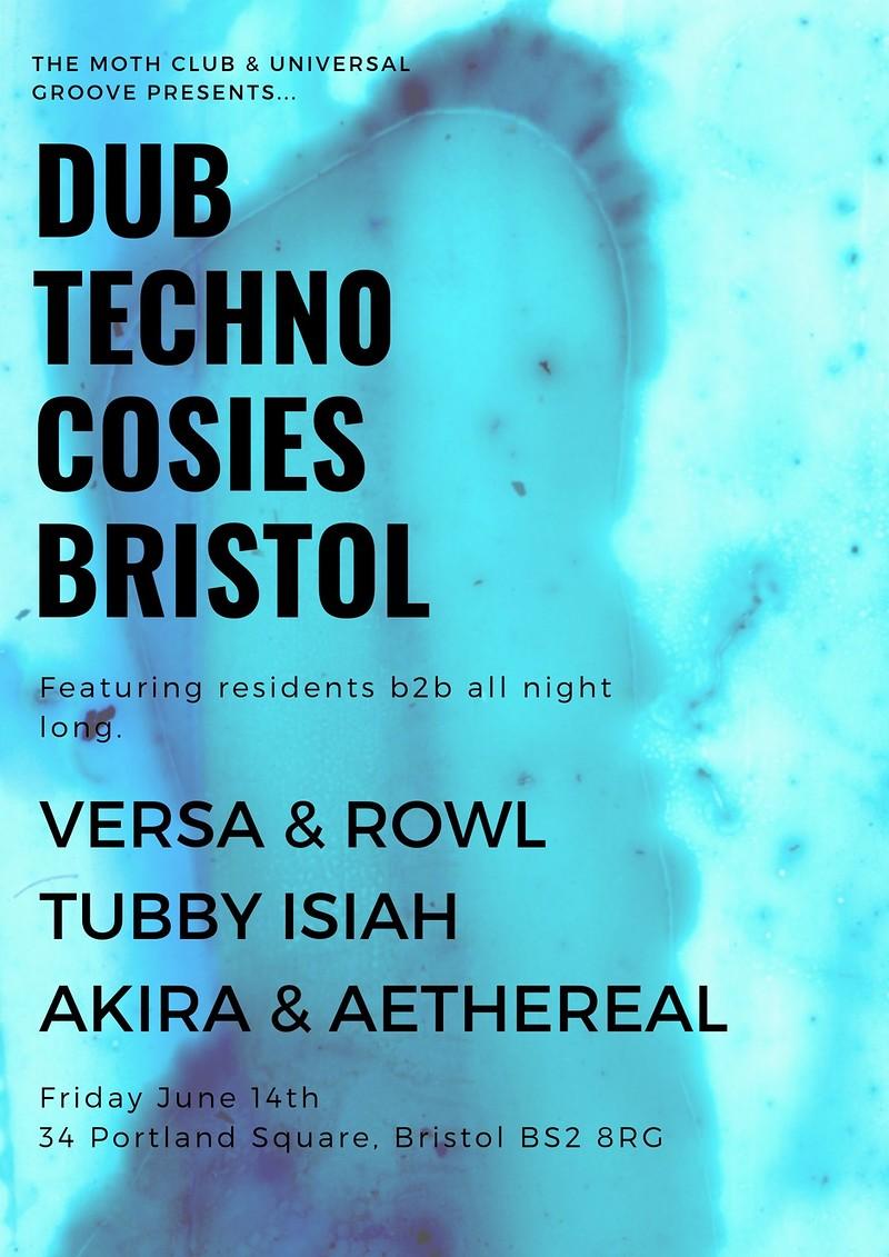 Dub Techno All Night at Cosies, TMC X Universal Gr, Cosies