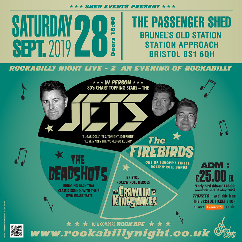 Rockabilly Night LIVE 2: The Jets & Special Guests at The Passenger Shed, Bristol, BS1 6QH