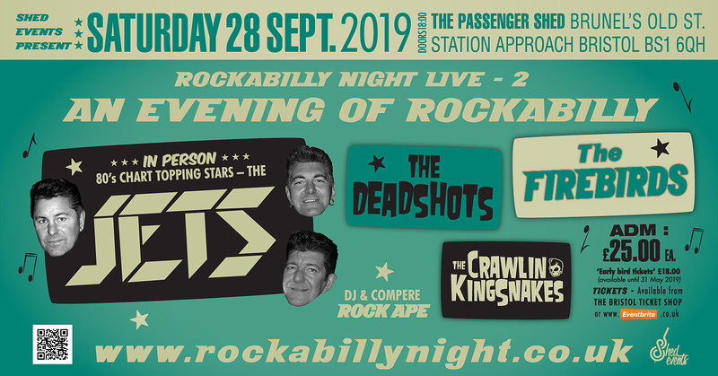 Rockabilly Night LIVE 2: The Jets & Special Guests in Bristol 2019