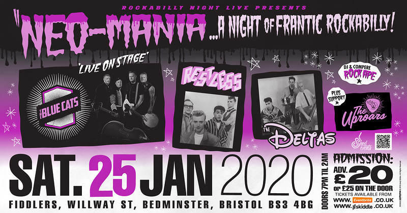 The Bluecats, Restless, The Deltas & The Uproars in Bristol 2020