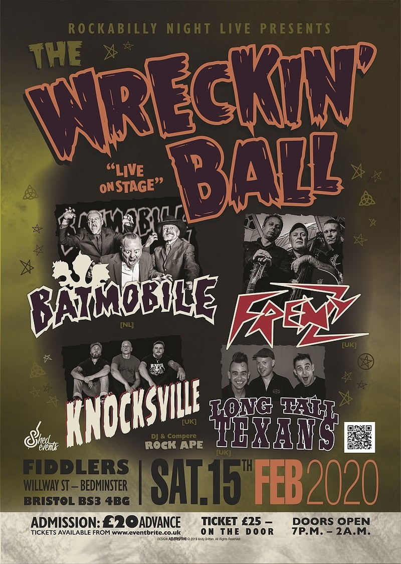 The Wrecking Ball - Psychobilly Extravaganza at Fiddlers