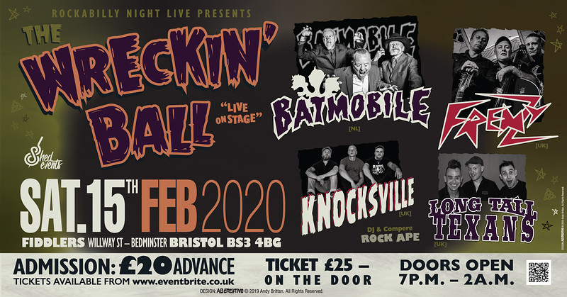 The Wrecking Ball - Psychobilly Extravaganza in Bristol 2020
