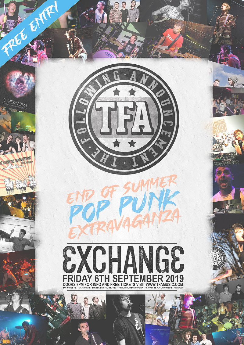 TFA (The Following Announcement) Live at Exchange