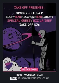 TakeOff Presents: Spooky+Killa P, Riz La Teef+More in Bristol