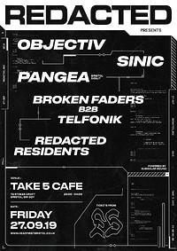 Redacted: 003 - Objectiv, Sinic, Pangea in Bristol
