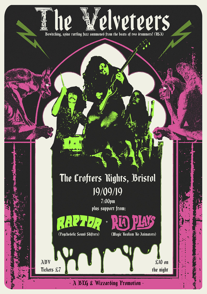 BLG & WP: The Velveteers / Raptor / Ria Plays at Crofters Rights