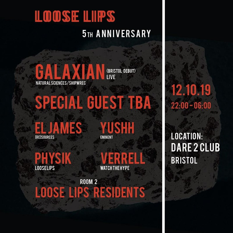 Loose Lips 5th Anniv. w/ Galaxian + Lurka at Dare to Club