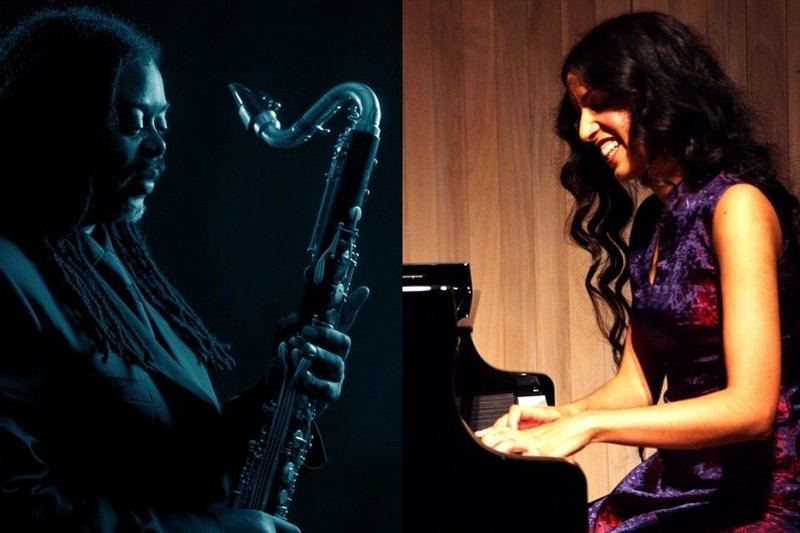 Courtney Pine with Zoe Rahman in Bristol 2019