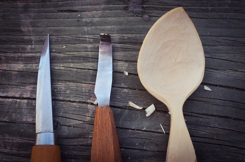 Carve a wooden spoon workshop at InBristol Studio