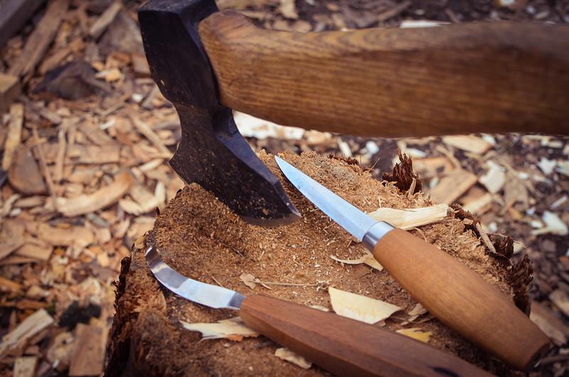Carve a wooden spoon workshop in Bristol 2020