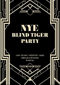 NYE - The Blind Tiger Party in Bristol