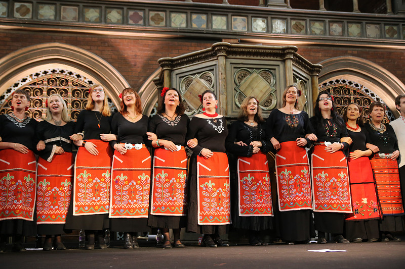 London Bulgarian Choir, workshop and concert at United Reformed Church, Redland