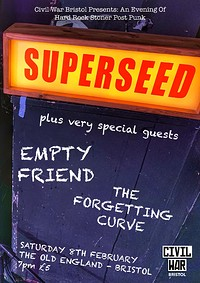 Civil War Presents: Superseed & Guests in Bristol