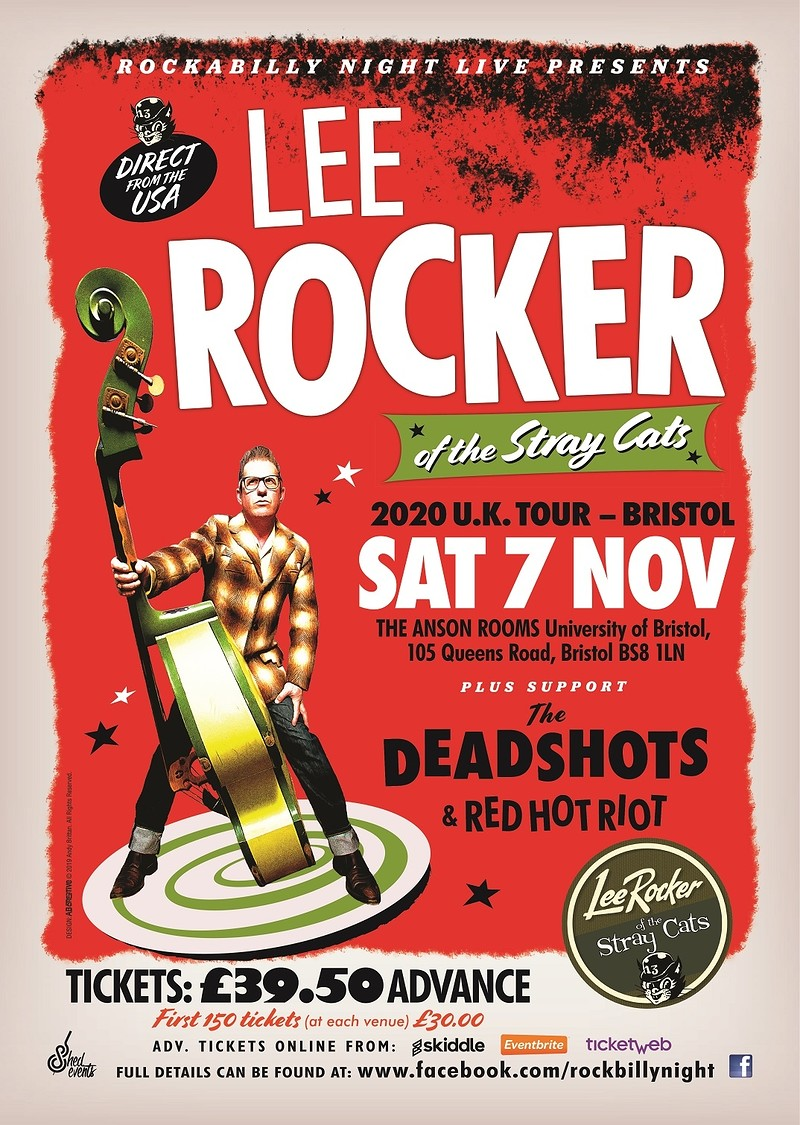 Lee Rocker (of The Stray Cats) + Support  in Bristol 2020
