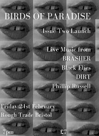 Birds of Paradise: TWO Launch ft BRASHER + support in Bristol