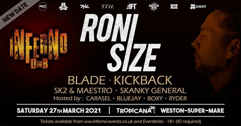 Inferno DnB presents RONI SIZE in Bristol 2021