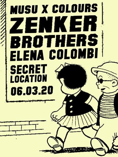 Musu x Colours w/ Zenker Brothers & Elena Colombi tickets