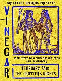 Vinegar, Steve Buscemi's Dreamy Eyes & Hamburger in Bristol