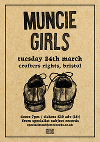 Muncie Girls / Perkie / Soot Sprite in Bristol