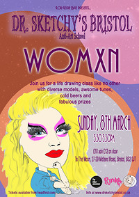 Dr. Sketchy's presents Womxn in Bristol