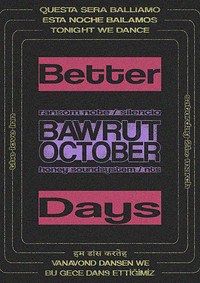 Better Days with Bawrut and October in Bristol