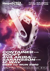 Illegal Data #11: Container / Boofy / Ava Akira ++ in Bristol