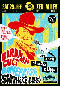 Birdman Cult / DAMEFRISØR / Sapphire Blues in Bristol