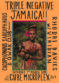 Triple Negative, Jamaica!!, Rhodri Davies Viridian in Bristol