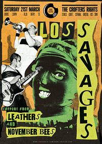 Los Savages / Leathers / November Bees in Bristol