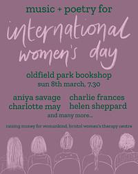 Music + Poetry for International Women's Day in Bristol