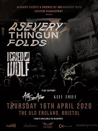 As Everything Unfolds + I Cried Wolf in Bristol